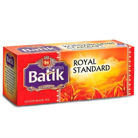 Batik, Royal Standart, 25 пак., Чай Батик, Королевский стандарт, черный