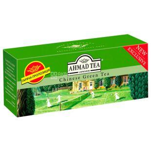 Ahmad Tea Chinese Green, 25 пак, Чай зеленый Ахмад Ти Чайнес Грин, Китайский