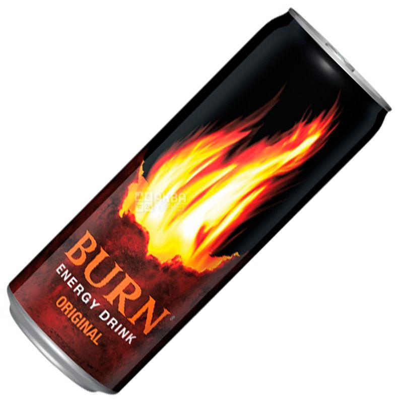 Burn Original, 0,25 л, Напій енергетичний Берн Ориджинал