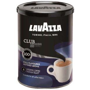 Lavazza, Club, 250 г, Кава Лаваца, Клаб, середнього обсмаження, мелена, ж/б