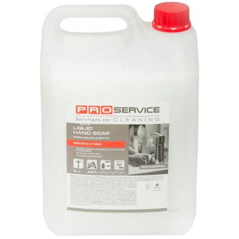 PROservice, 5 л, жидкое крем-мыло, Молоко и мед, ПЭТ
