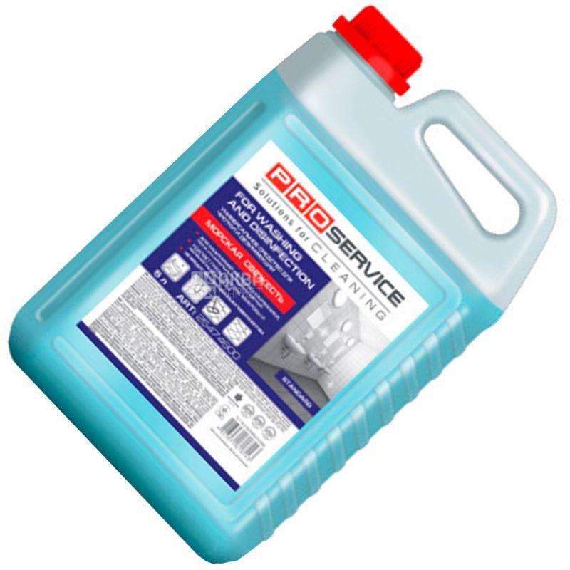 PROservice, Средство для мытья и дезинфекции, Универсальный, Морская свежесть, 5 л