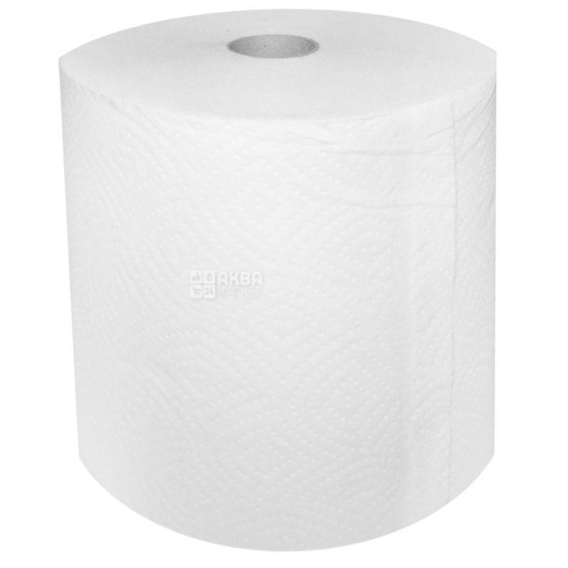 Джамбо, 120 м, Бумажные полотенца, Двухслойные, Белые,м/у