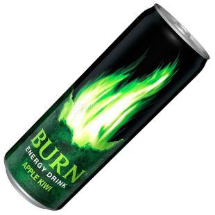 Burn, 0,25 л, Напиток энергетический, Apple Kiwi, ж/б