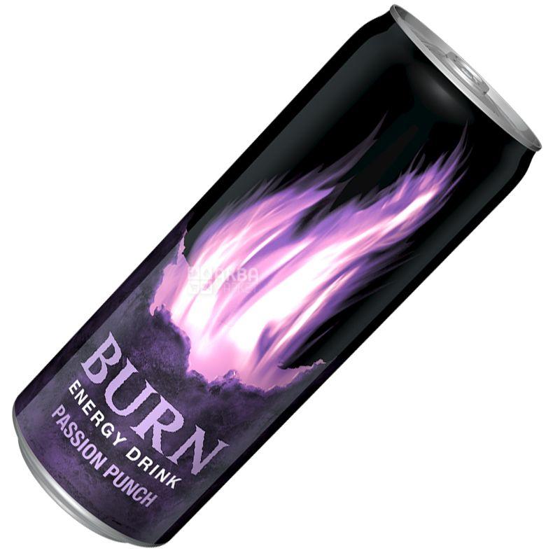 Burn Passion Punch, 0,25 л, Напиток энергетический Бёрн Пэшн Панч