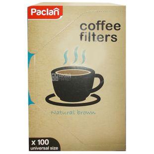Paclan, 100 шт., Фильтры для кофе Паклан, №4, для кофеварок капельного типа