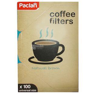 Paclan, 100 шт., Фільтри для кави Паклан, №4, для кавоварок крапельного типу