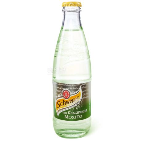 Schweppes, 0,25 л, сладкая вода, Classic Mojito, стекло