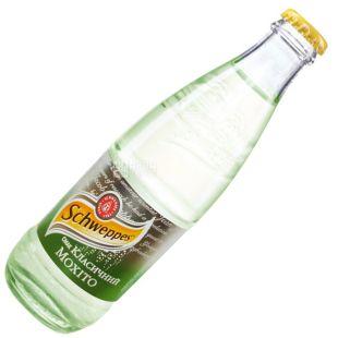 Schweppes, Classic Mojito, 0,25 л, Швепс, Классический Мохито, Вода сладкая, с соком лайма, стекло