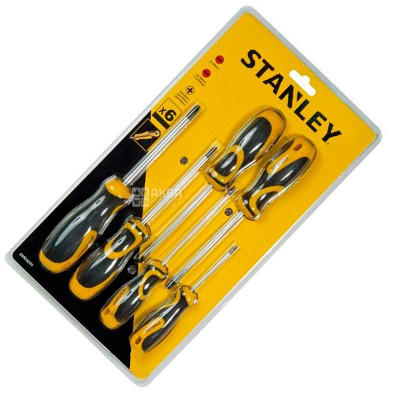 Stanley, 6 предметов, набор отверток, STHT0-62151