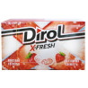 Dirol, 18 г, Жувальна гумка, X-Fresh, Полунична свіжість