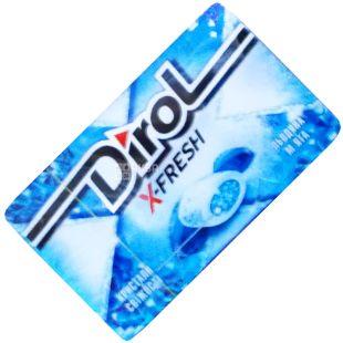 Dirol, 18 г, жувальна гумка, Льодяна М'ята, X-Fresh
