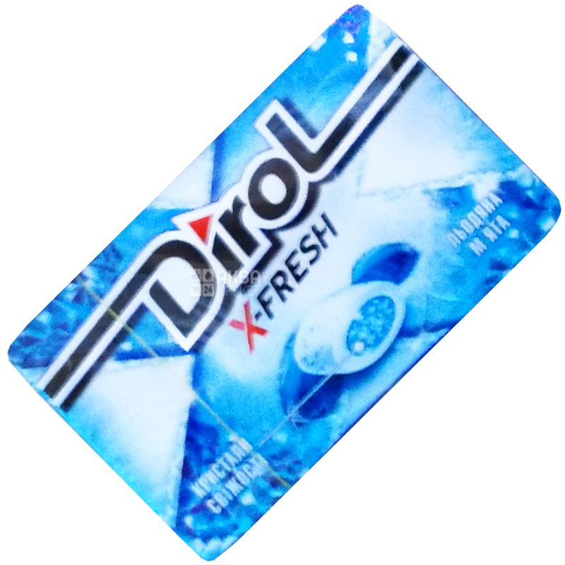 Dirol, 18 г, жевательная резинка, Ледяная Мята, X-Fresh