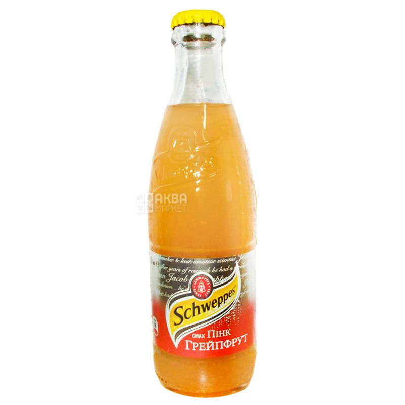 Schweppes, 0,25 л, Сладкая вода, Pink Grapefruit, стекло