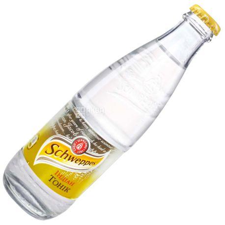 Schweppes, Indian Tonic, 0,25 л, Швепс, Индиан, Тоник травяной, безалкогольный, стекло
