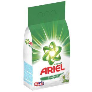 Ariel, 3 кг, Стиральный порошок, Для белого белья, Белая роза, Автомат