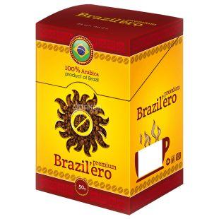 Brazil'ero, 25 шт., растворимый кофе, Premium, В стиках