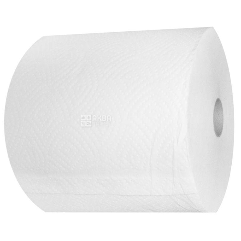 КПК, 1 рул., Бумажные полотенца Джамбо, 2-х слойные, без перфорации, 150 м