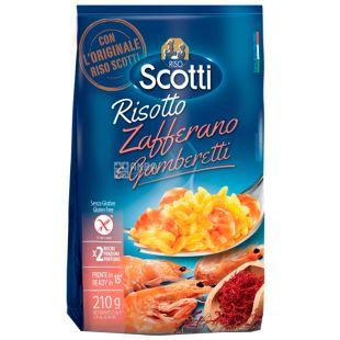 Scotti, 210 g, Risotto mix, With shrimps and saffron, Gluten-free, m / s
