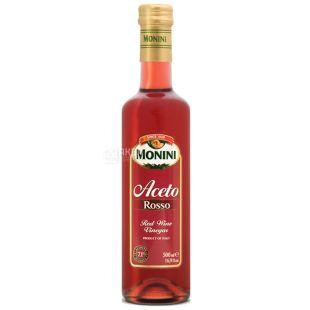 Monini, 500мл, 7,1%, Оцет винний, Червоний, Скло