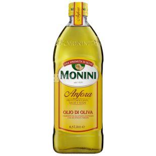 Monini, 500 мл, Масло оливковое, Anfora olive oil,  Рафинированное, Стекло