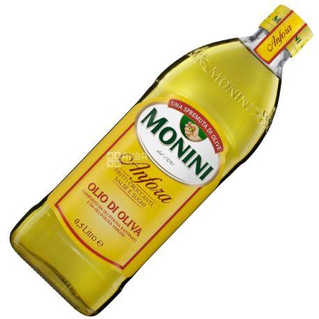 Monini, 500 мл, Олія оливкова,  Anfora olive oil,  Рафінована, Скло
