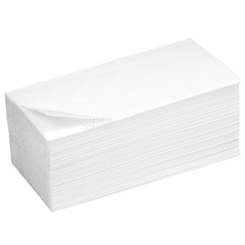 КПК, 170 шт., Бумажные полотенца, Однослойные, Белые