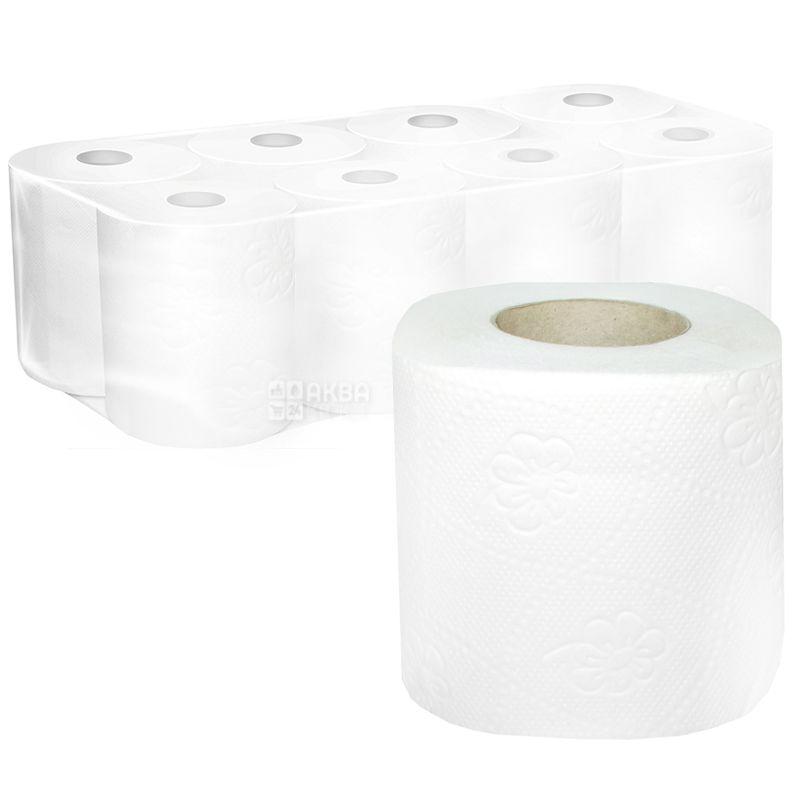 КПК, 8 рул., Туалетная бумага, 2-х слойная