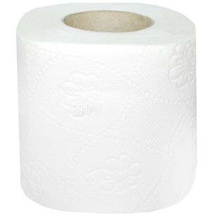 PDA, 8 rolls, Toilet paper, Dual Layer, White