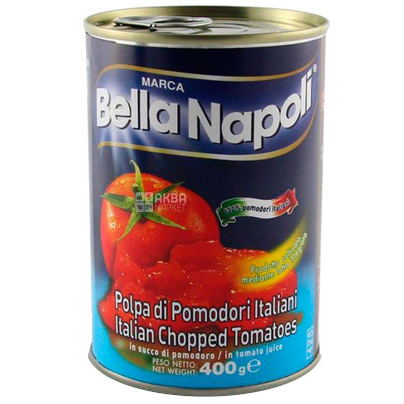Bella Napoli, 400 г, Помидоры, Кусочками, ж/б