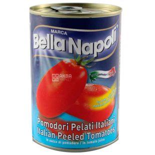 Bella Napoli, 400 г, Помидоры, Очищенные, ж/б