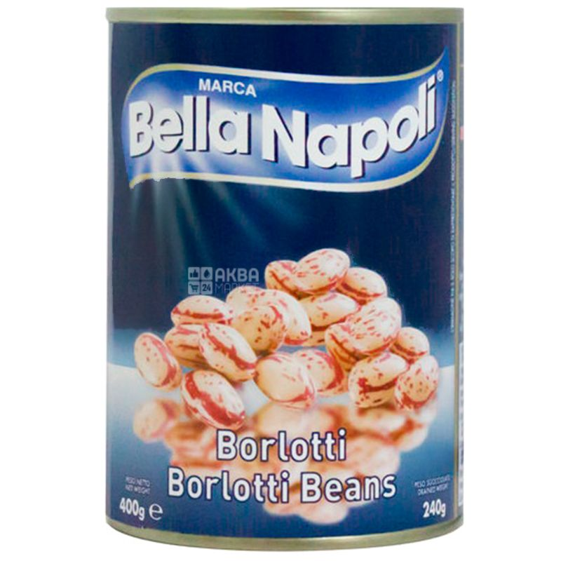 Bella Napoli, 400 г, Фасоль, Борлотти, ж/б