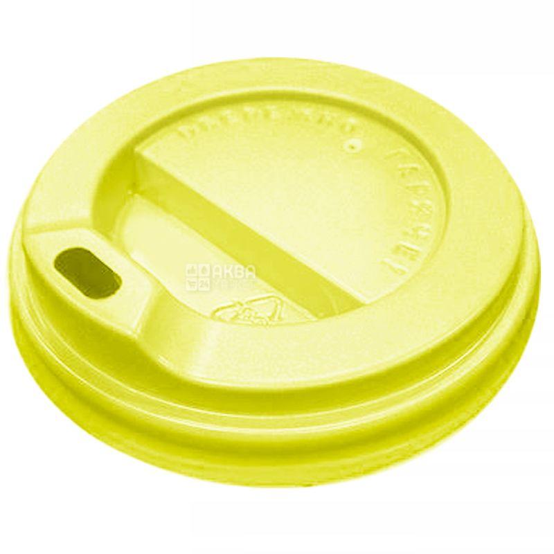 Крышка для одноразового стакана 175/180 мл, Желтая, 50 шт, D69