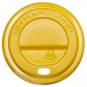 Крышка для одноразового стакана, Упаковка 50 шт., 400мл, Желтая, м/у