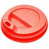 Крышка для одноразового стакана 400 мл, Красная, 50 шт, D80