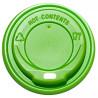 Кришка для одноразового стакану, Упаковка 100 шт., 175/180 мл, Зелена, м/у