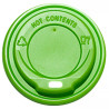 Крышка для одноразового стакана 250 мл, Зеленая, 50 шт, D75