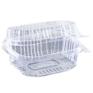 Контейнер харчовий, 100х130х58 мм, 560 мл, прозорий, 10 шт., блістер