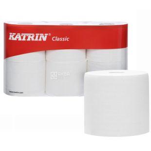 Katrin, 6 рулонів, Туалетний папір, Classic, Двошаровий, білий, м/у