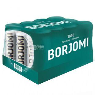 Borjomi, Упаковка 12 шт. по 0,33 л, Вода сильногазована, Мінеральна, ж/б
