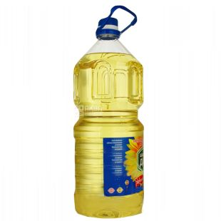 Generous Gift, 3 l, Sunflower oil, Refined, Cold refining, PET