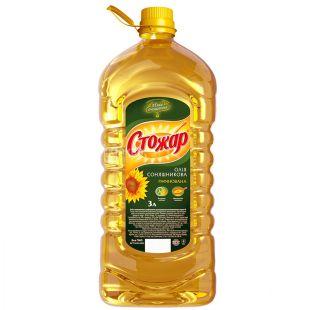 Stozhar, 3l, Sunflower oil, Refined, PET