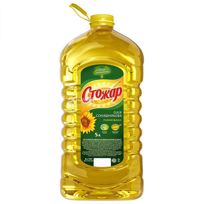 Стожар, 5л, Масло подсолнечное, Рафинированное, ПЭТ