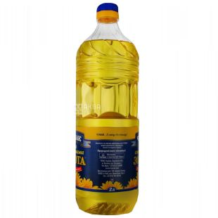 Chumak, 2l, Sunflower oil, Refined, Golden, PET