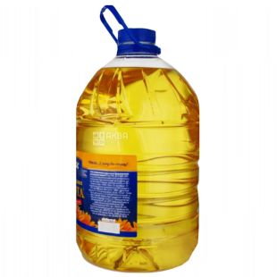 Chumak, 5l, Sunflower oil, Refined, Golden, PET