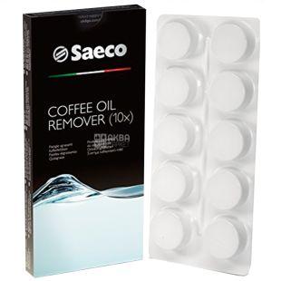 Saeco, 10 шт., Таблетки для очищення від кавових олій, Для кавових машин