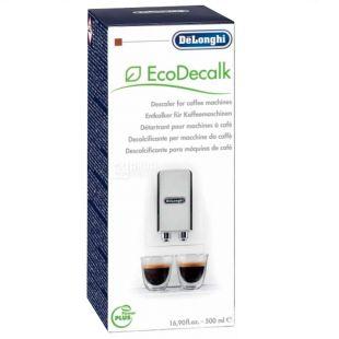DeLonghi, 500 мл, Рідина для видалення накипу, Для кавових машин, EcoDecalk
