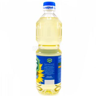 Generous gift, 0.5 l, Sunflower oil, Refined, Cold refining, PET