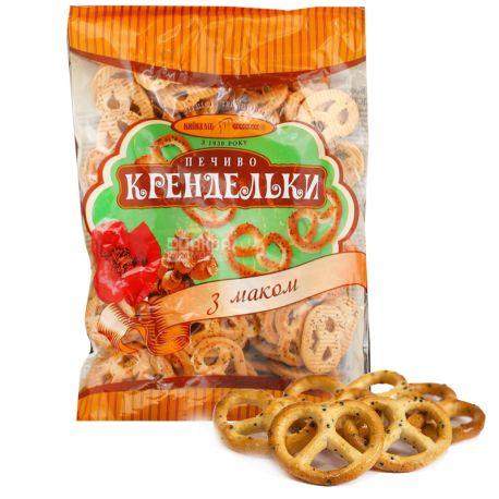 Киевхлеб, 260 г, Печенье, Крендельки с маком, м/у