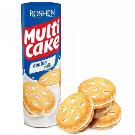 Roshen, 170 г, Печенье-сендвич, Multicake, С молочной начинкой, м/у